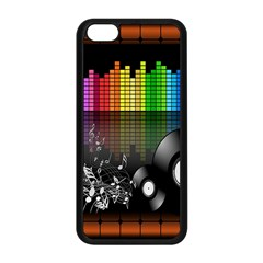 Music Pattern Apple iPhone 5C Seamless Case (Black)