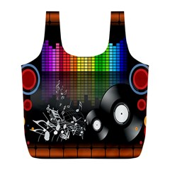 Music Pattern Full Print Recycle Bags (L)