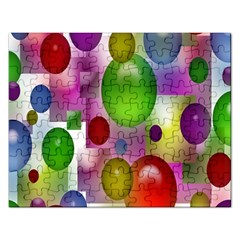 Colorful Bubbles Squares Background Rectangular Jigsaw Puzzl