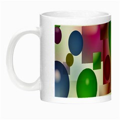 Colorful Bubbles Squares Background Night Luminous Mugs