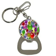 Colorful Bubbles Squares Background Button Necklaces
