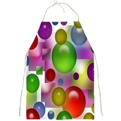 Colorful Bubbles Squares Background Full Print Aprons