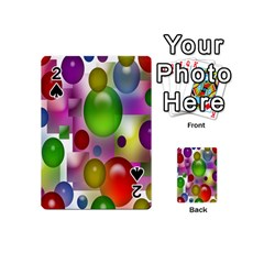 Colorful Bubbles Squares Background Playing Cards 54 (Mini)
