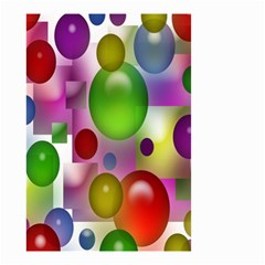 Colorful Bubbles Squares Background Small Garden Flag (Two Sides)