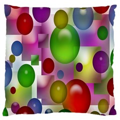 Colorful Bubbles Squares Background Large Cushion Case (Two Sides)