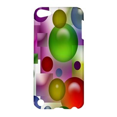 Colorful Bubbles Squares Background Apple iPod Touch 5 Hardshell Case