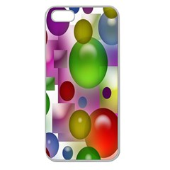Colorful Bubbles Squares Background Apple Seamless iPhone 5 Case (Clear)