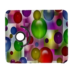 Colorful Bubbles Squares Background Galaxy S3 (Flip/Folio)