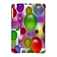 Colorful Bubbles Squares Background Apple iPad Mini Hardshell Case (Compatible with Smart Cover)
