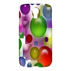 Colorful Bubbles Squares Background Samsung Galaxy S4 I9500/i9505 Hardshell Case