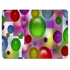 Colorful Bubbles Squares Background Samsung Galaxy Tab 7  P1000 Flip Case
