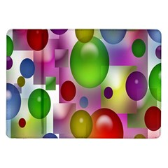 Colorful Bubbles Squares Background Samsung Galaxy Tab 10.1  P7500 Flip Case