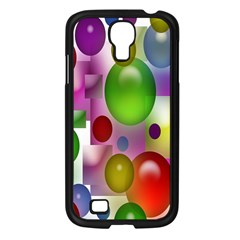 Colorful Bubbles Squares Background Samsung Galaxy S4 I9500/ I9505 Case (black)