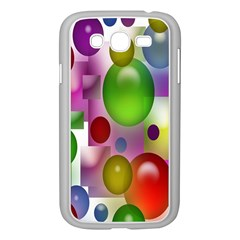 Colorful Bubbles Squares Background Samsung Galaxy Grand DUOS I9082 Case (White)