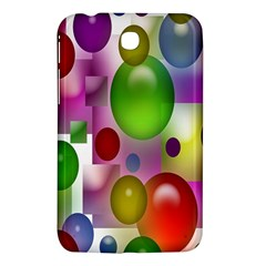 Colorful Bubbles Squares Background Samsung Galaxy Tab 3 (7 ) P3200 Hardshell Case