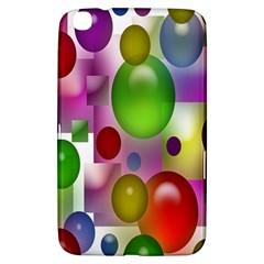 Colorful Bubbles Squares Background Samsung Galaxy Tab 3 (8 ) T3100 Hardshell Case