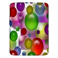 Colorful Bubbles Squares Background Samsung Galaxy Tab 3 (10.1 ) P5200 Hardshell Case