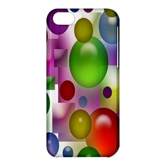 Colorful Bubbles Squares Background Apple iPhone 5C Hardshell Case