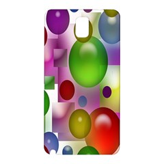 Colorful Bubbles Squares Background Samsung Galaxy Note 3 N9005 Hardshell Back Case