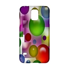Colorful Bubbles Squares Background Samsung Galaxy S5 Hardshell Case
