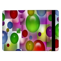 Colorful Bubbles Squares Background Samsung Galaxy Tab Pro 12.2  Flip Case