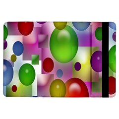 Colorful Bubbles Squares Background iPad Air Flip