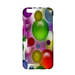 Colorful Bubbles Squares Background Apple iPhone 6/6S Hardshell Case