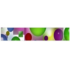 Colorful Bubbles Squares Background Flano Scarf (large)