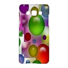 Colorful Bubbles Squares Background Samsung Galaxy A5 Hardshell Case