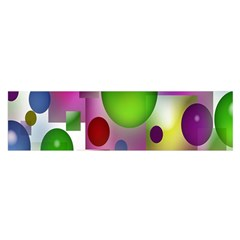 Colorful Bubbles Squares Background Satin Scarf (Oblong)