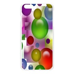 Colorful Bubbles Squares Background Apple Seamless iPhone 6 Plus/6S Plus Case (Transparent)