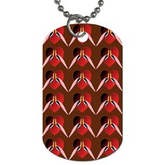 Peacocks Bird Pattern Dog Tag (One Side)