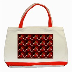 Peacocks Bird Pattern Classic Tote Bag (Red)