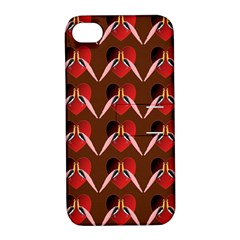 Peacocks Bird Pattern Apple iPhone 4/4S Hardshell Case with Stand