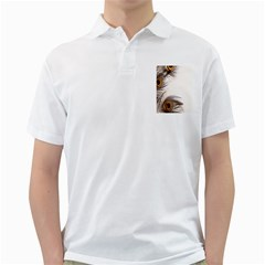 Peacock Feathery Background Golf Shirts