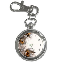 Peacock Feathery Background Key Chain Watches