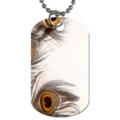 Peacock Feathery Background Dog Tag (One Side)