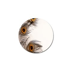 Peacock Feathery Background Golf Ball Marker