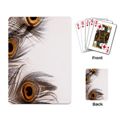 Peacock Feathery Background Playing Card