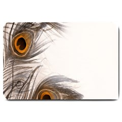Peacock Feathery Background Large Doormat
