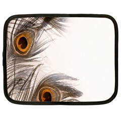 Peacock Feathery Background Netbook Case (large)