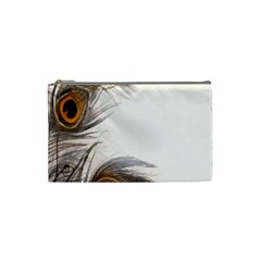 Peacock Feathery Background Cosmetic Bag (Small)