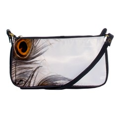 Peacock Feathery Background Shoulder Clutch Bags
