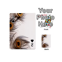 Peacock Feathery Background Playing Cards 54 (Mini)