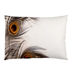 Peacock Feathery Background Pillow Case (Two Sides)