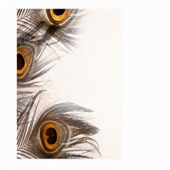 Peacock Feathery Background Large Garden Flag (Two Sides)