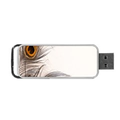 Peacock Feathery Background Portable USB Flash (One Side)