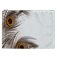 Peacock Feathery Background Cosmetic Bag (XXL)