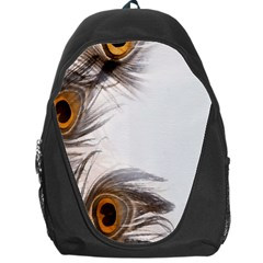 Peacock Feathery Background Backpack Bag