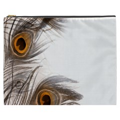 Peacock Feathery Background Cosmetic Bag (XXXL)